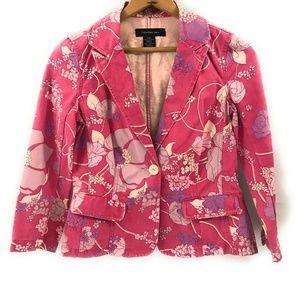 Calvin Klein Jeans Womens Floral Crop Blazer, S